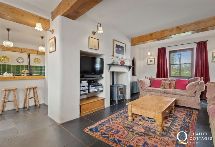 living room/kitchen of holiday home near to Tenby