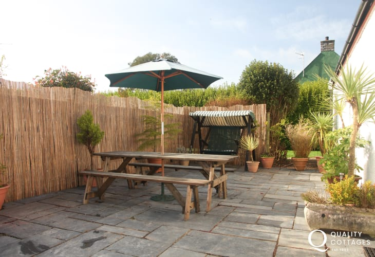 Patio of holiday home in Pembrokeshire