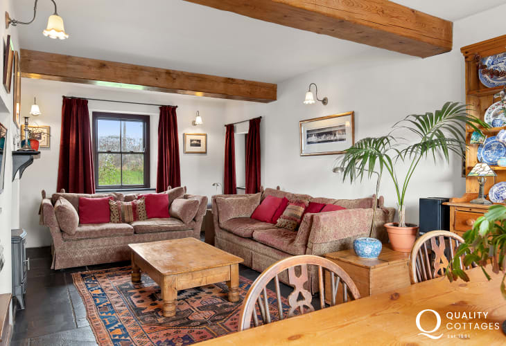 Living room of holiday cottage in Pembrokeshire