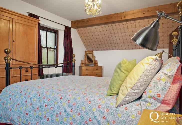 Master bedroom in Worthy House, Pembrokshire