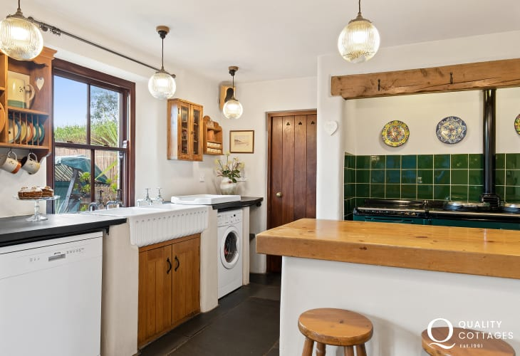 Self catering holiday homes kitchen in South Pembrokeshire