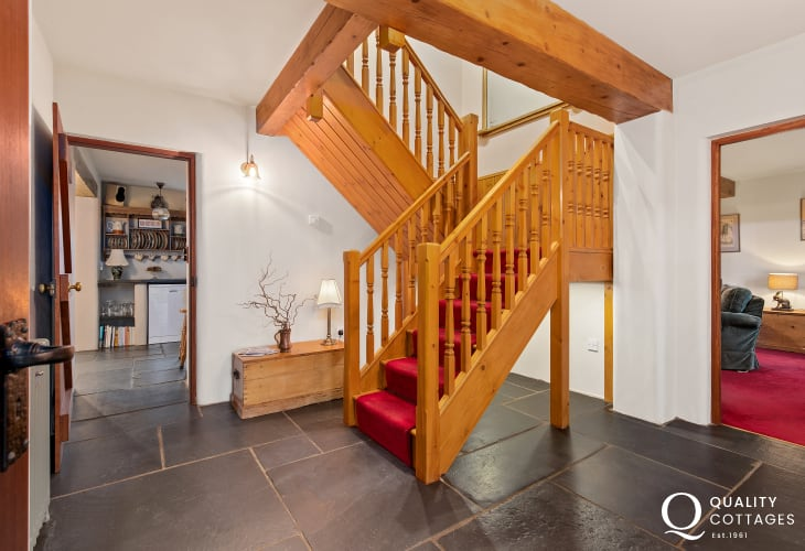 Staircase in a holiday cottage nearby Tenby, Pembrokeshire