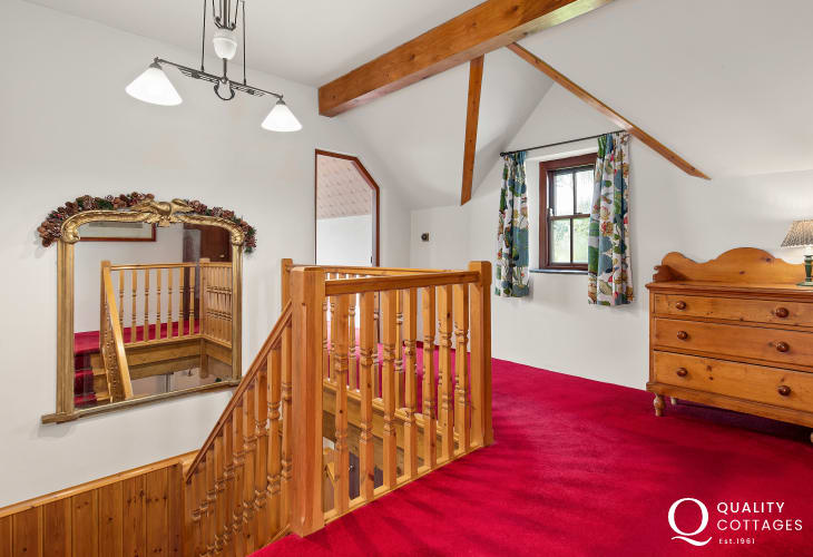 Upstairs landing of holiday home in West Wales