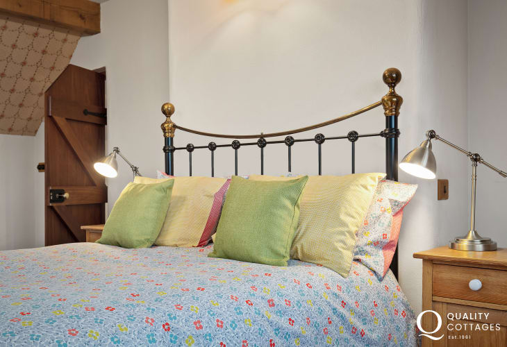 Master bedroom in Holiday cottage in Wales
