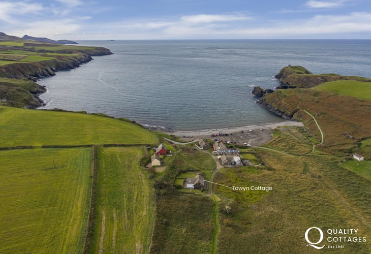Location of holiday cottage 75 yards from the beach