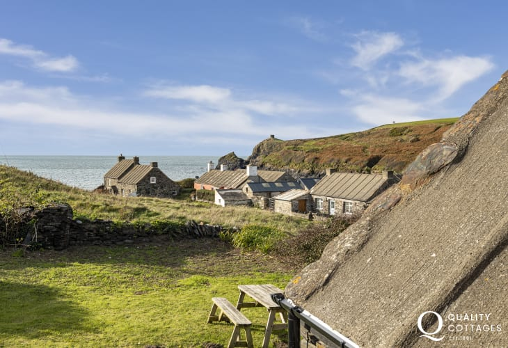 Sea views from the master bedroom of Abereiddy beach