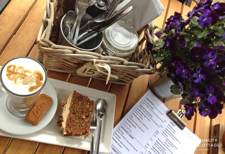 Try 'Blas at Fronlas' for delicous home made food, frothy coffee and cake!