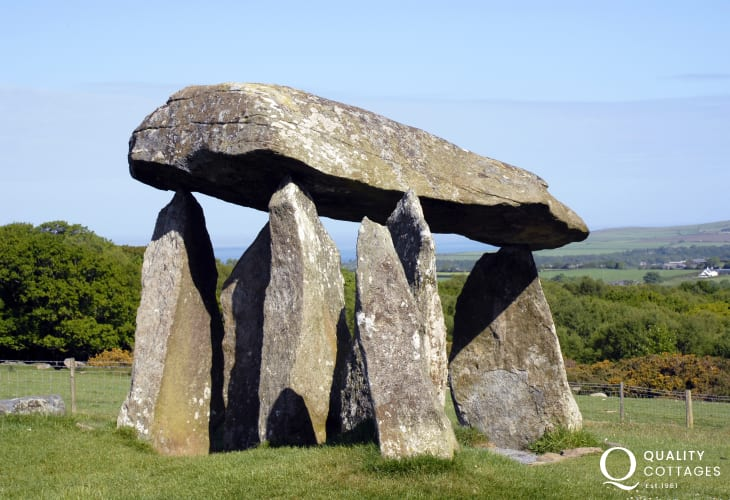 Pentre Ifan - a magnificent Neolithic burial chamber dating back to 3000 BC