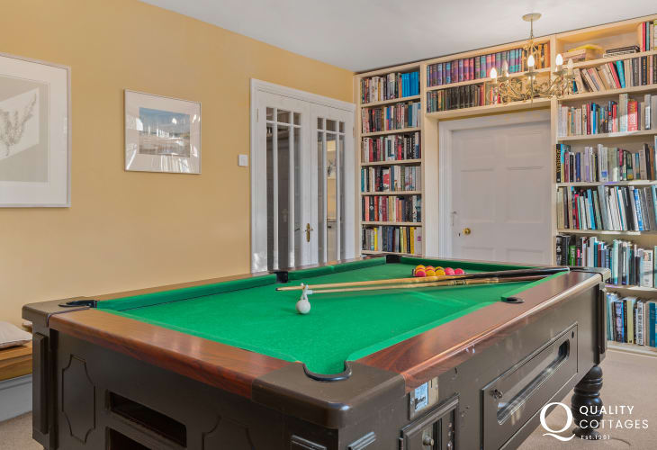Holiday house with pool table and well stocked library, on the St Davids Peninsula, Wales. Sleeps 15 guests.