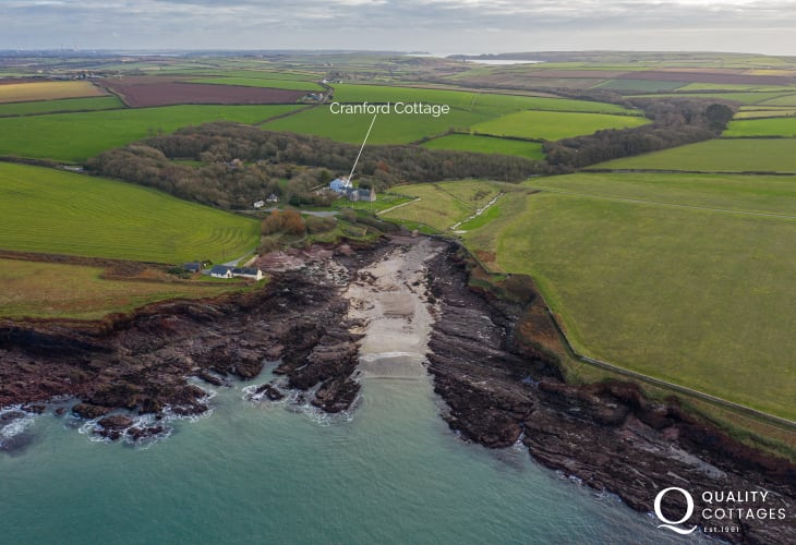 St Brides bay cottage location for holidays