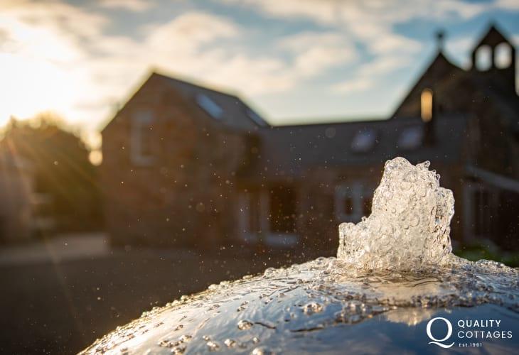 Water feature in cottage garden