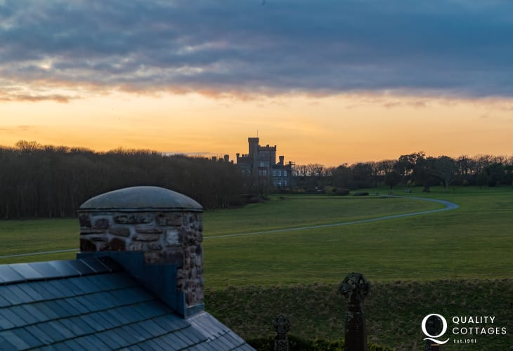 Sunsets over St Brides castle