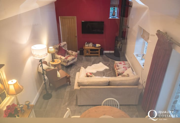 Master bedroom views of lounge