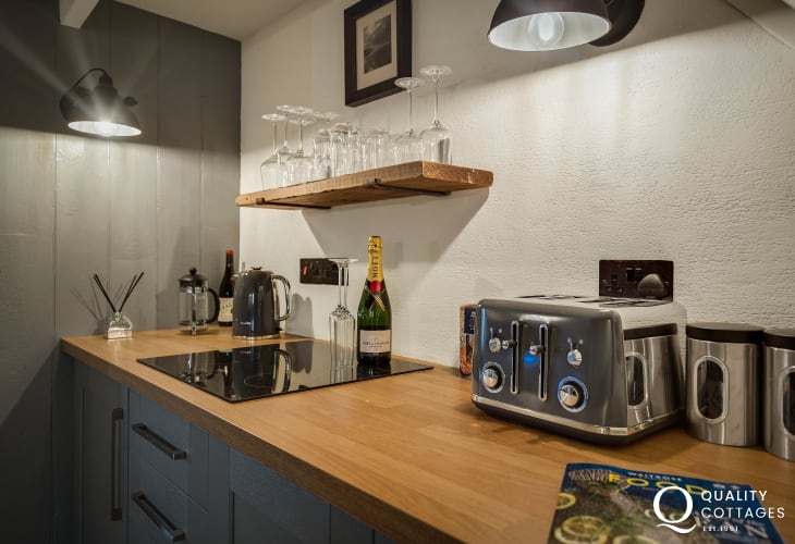 Well equipped kitchen in holiday home Solva