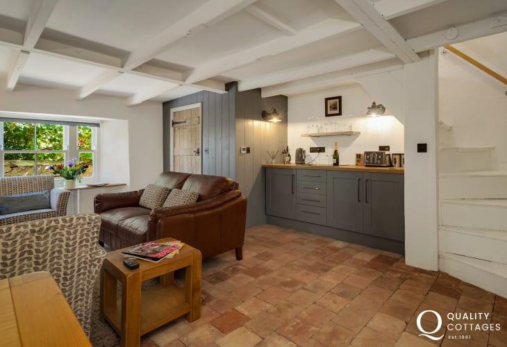 Living room/kitchen inside Alma Holiday Cottage Solva