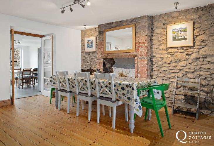 Self catering dining room in St David's