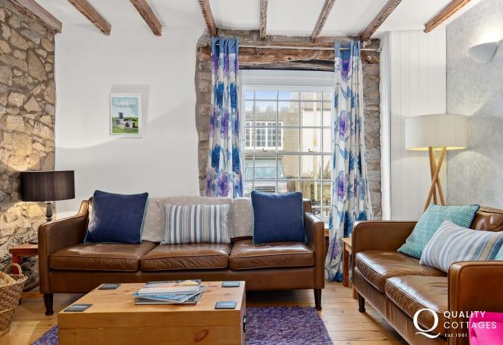 Living room inside St David's Holiday Home