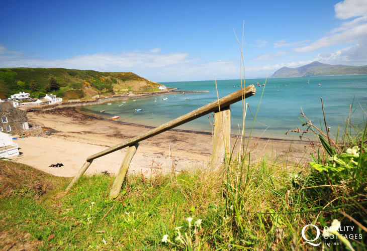 The beach at nearby Porthdinllaen on the Llyn Peninsula