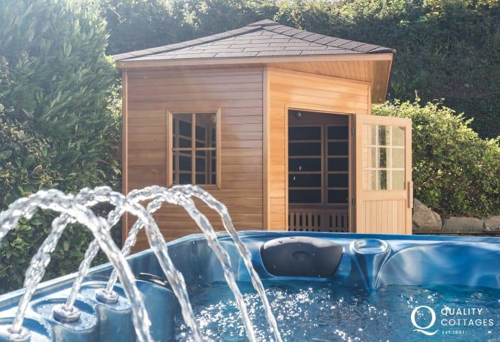 Holiday home with hot tub & sauna