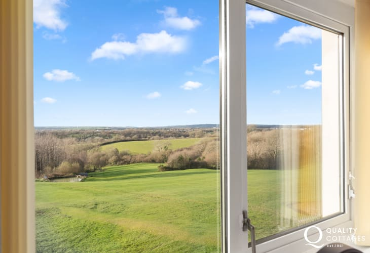 Stunning rural views from double bedroom