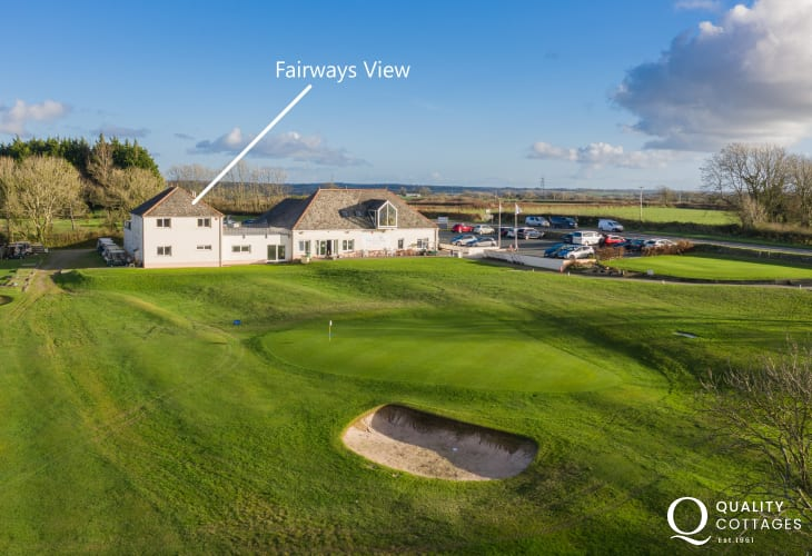 Holiday apartment in Pembrokeshire - Photo of 'Fairways View' apartment at Haverfordwest Golf Club.