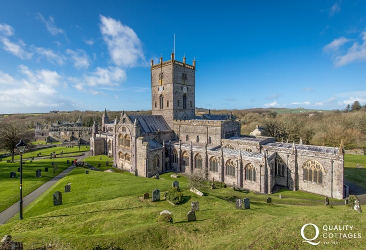 The beautiful St Davids Cathderal a short drive from Trefin