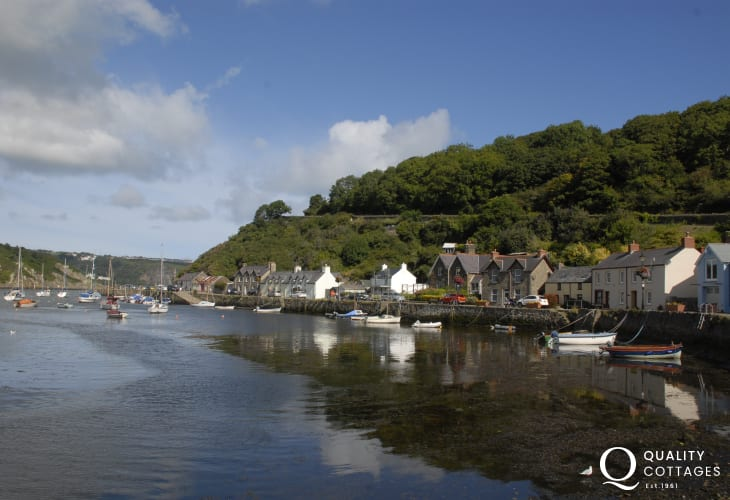 Lower Fishguard is a serene place to enjoy a fresh local seafood at the cafe on the quay