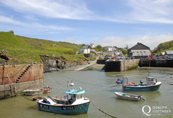 Porthgain Harbour with it's galleries and popular pub and seafood restaurant