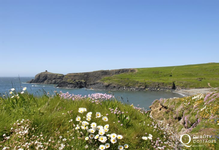 Abereiddy with it's infamous Blue Lagoon is a great spot to visit for cliff jumping or walking