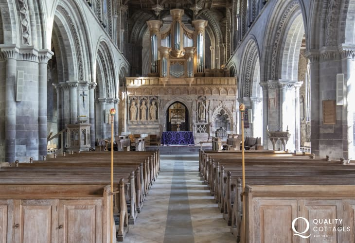 The impressive Cathedral is a must see on any trip to St Davids