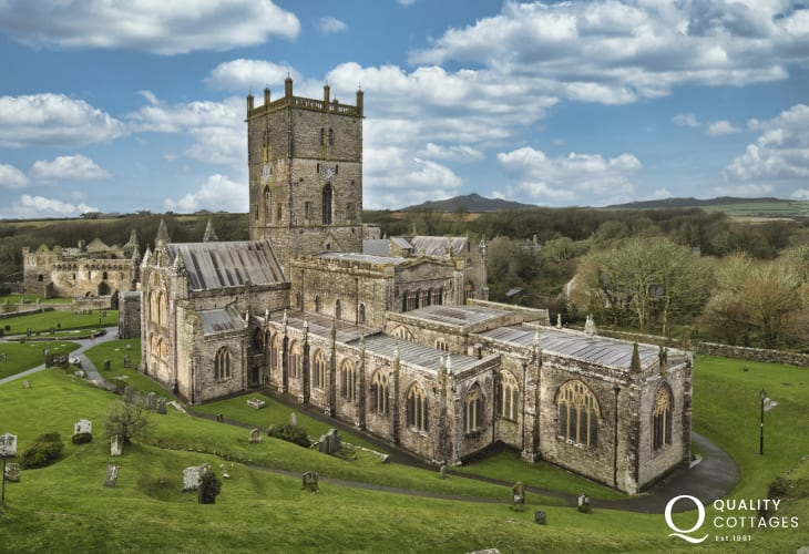 St Davids Cathedral is just a short stroll from The Nest