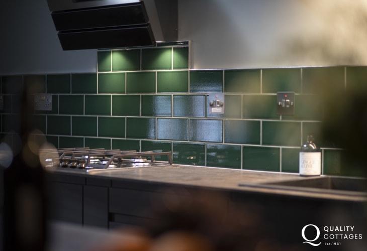 St Davids holiday apartment, sleeps five - brand new designer kitchen.