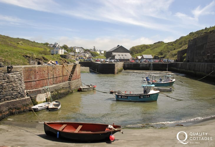 Porthgain a small fishing harbour 10 minutes away with The Shed Bistro, The Sloop pub and galleries