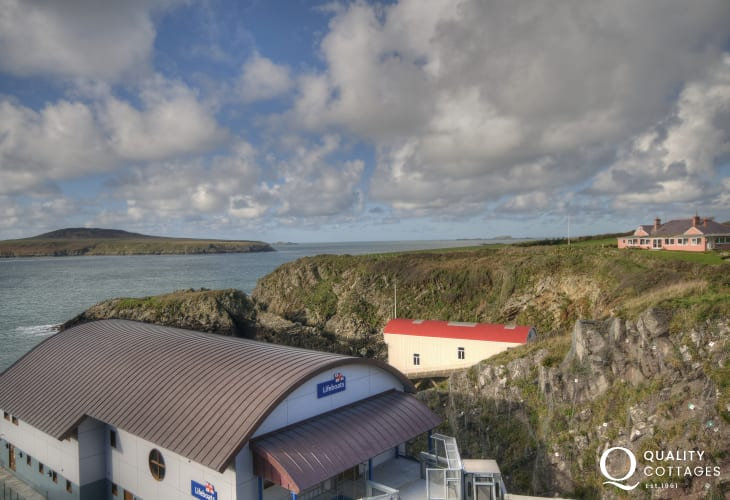 Views from St Justinians over to Ramsey Island and the home to St Davids Lifeboat Station