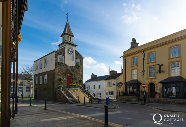 The lovely Market Town of Narberth a 10 minute drive away