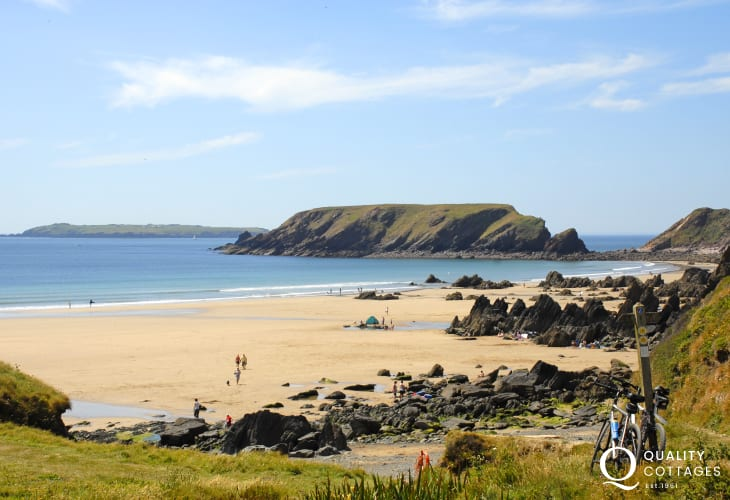 The golden sands at Marloes