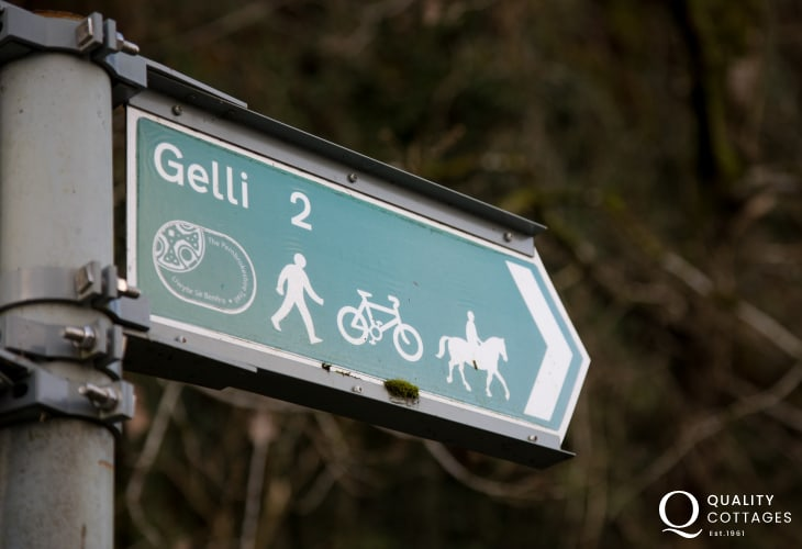 Gelli Hill perfect for exploring the countryside