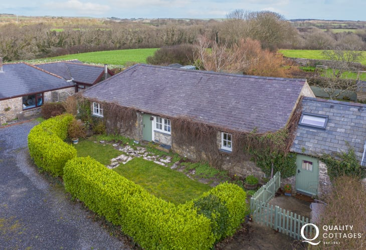 Whitewell holiday cottage in Bosherton, Pembrokeshire, with private parking for up to two cars.