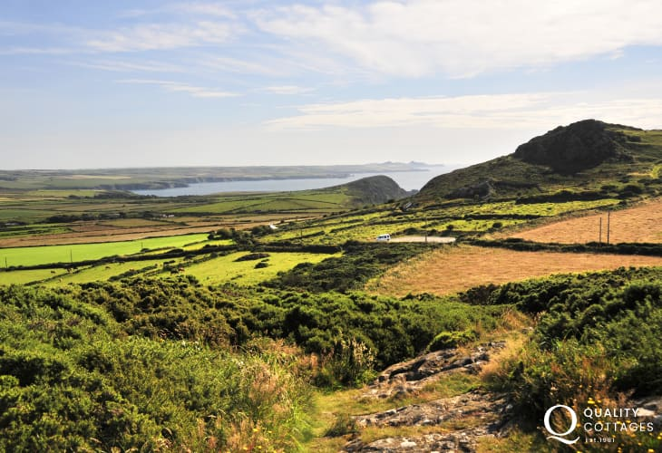 Scenic landscape near strumble Head with stunning views