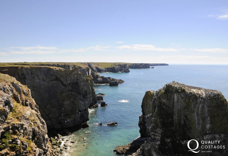 Stack rocks on South West coast of Pembrokeshire
