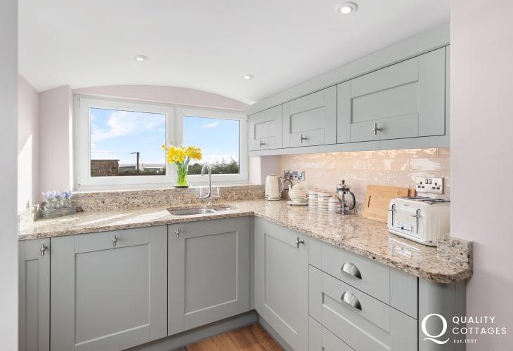 Kitchen at Edith Villa - Carmarthenshire Holiday Cottage sleeping 10