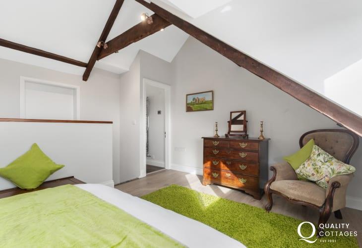 Master Bedroom at Edith Villa - Carmarthenshire Holiday Cottage sleeping 10