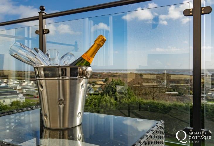 Balcony at Edith Villa - Carmarthenshire Holiday Cottage sleeping 10