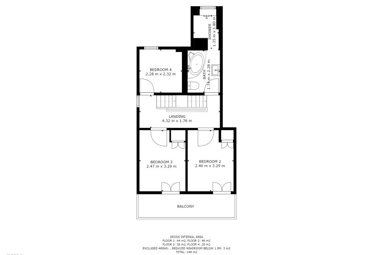 Floor Plan of Second Floor