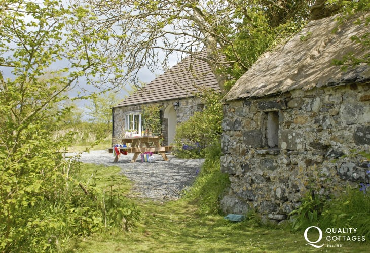 St Davids, Pembrokeshire family holiday cottage - secret garden