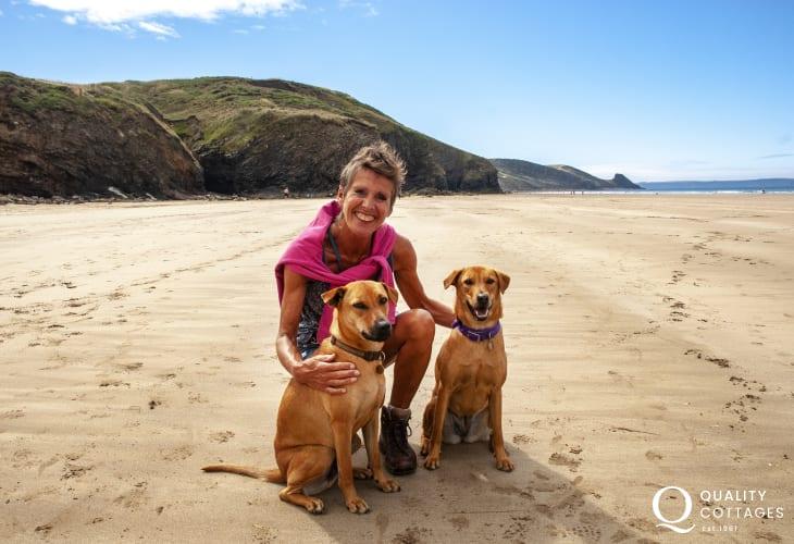 Enjoying Newgale Beach - Cwm Eithin welcomes pets