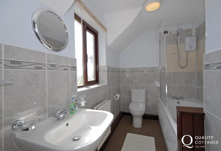 St Davids holiday home - family bathroom