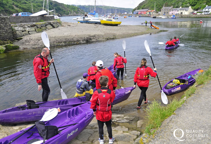 'Kayak King' offer trips fom Lower Town out to explore the hidden caves, secluded beaches and playful marine life