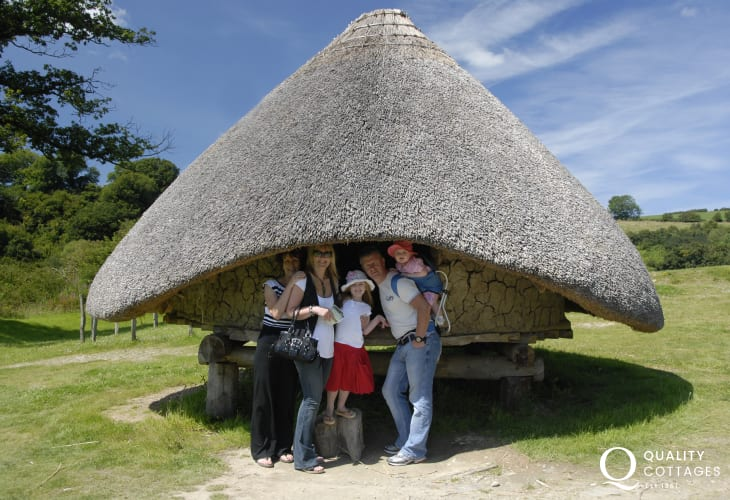 Taste life as it was over 2000 years ago at Castell Henllys, a reconstructed Iron Age hill fort