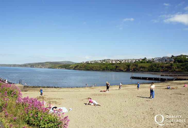 Parrog Beach, Goodwick - a sheltered sandy foreshore with excellent water sports facilities